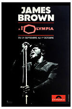 Godfather of Soul: James Brown at l'Olympia Paris France Concert Poster 1960's