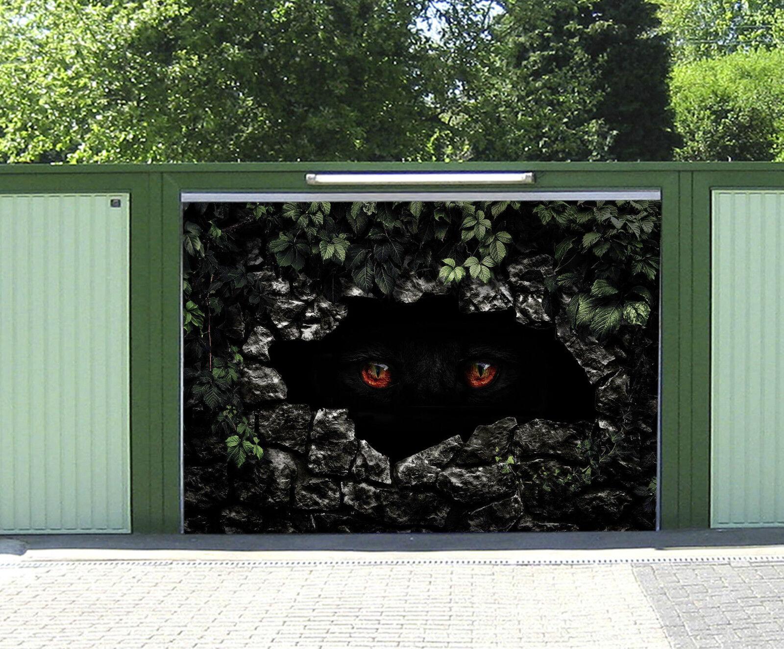 3D Yeux Animaux 967 Garage Porte Peint en Autocollant Murale AJ WALLPAPER FR