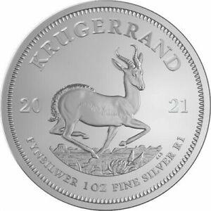2021 South African Krugerrand 1 oz Silver Coin BU .999 Fine silver