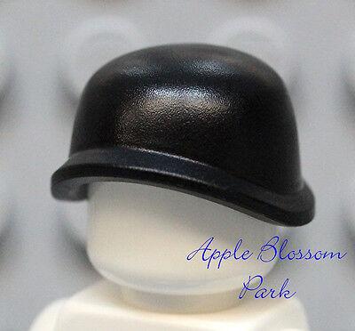 NEW Lego Minifig Black STEEL POT HELMET Hat - Soldier Minifigure Army Head Gear