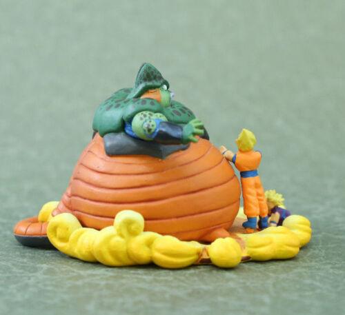 """Dragon Ball capsule Saiyan Goku Gohan vs Cell Figure  Authentic 2/"""" MH JP M103"""
