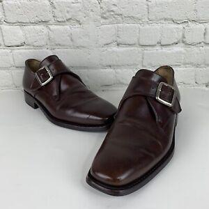 Men-039-s-Calzoleria-Harris-for-Barney-039-s-Size-7-Brown-Single-Monk-Strap-Shoe