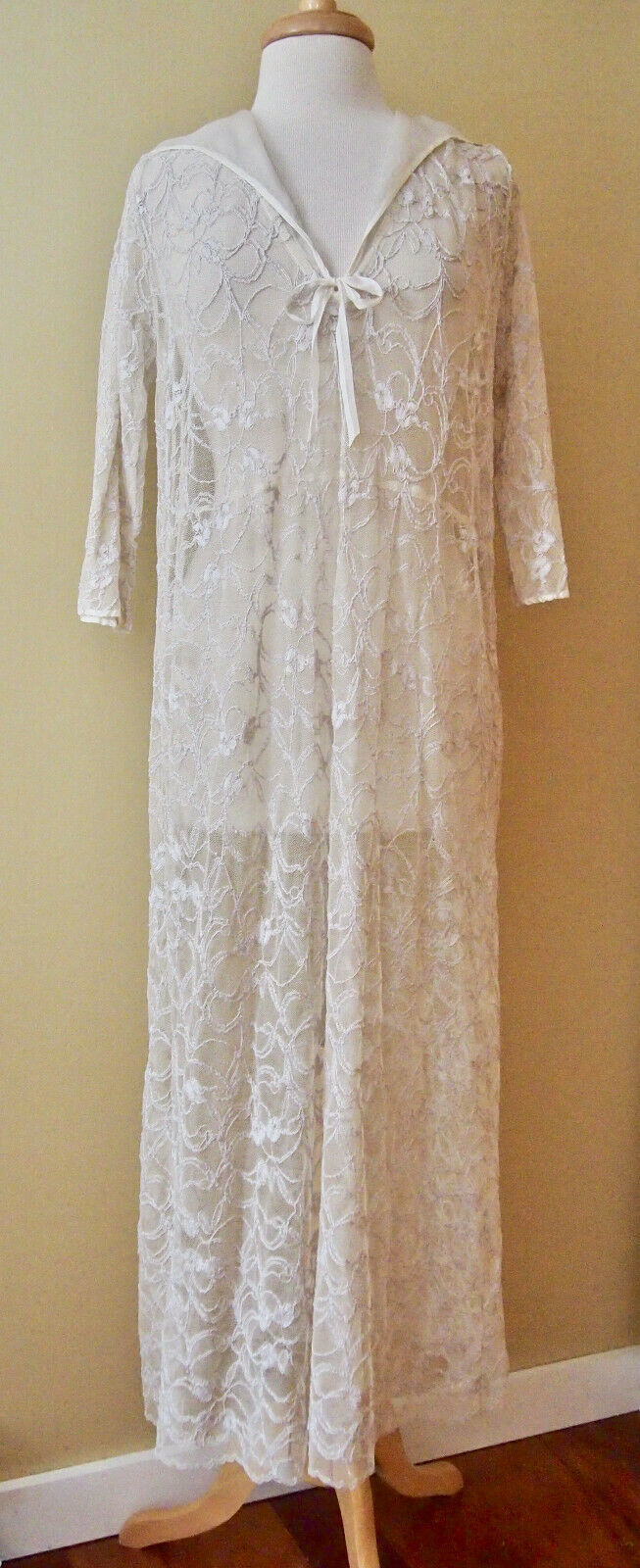 NOLA TRUE Cream LACE Sailor DRESS Tea Length CHAGRIN FALLS Boutique  OS