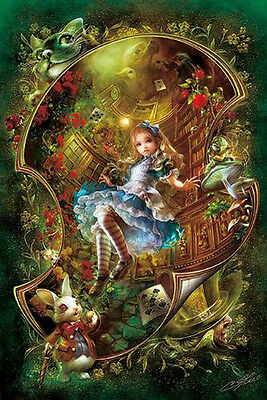 APPLEONE Jigsaw Puzzle 108-076 Alice in Wonderland (108 Pieces)