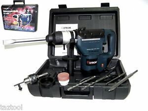 1-1-2-034-ELECTRIC-ROTARY-HAMMER-DRILL-WITH-BITS-SDS-PLUS-ROTO-TOOL-1-5-HP