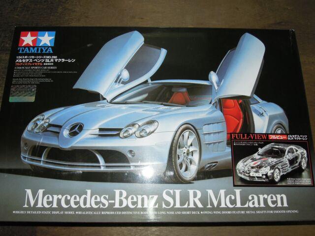 """Tamiya 1/24 Mercedes-Benz SLR McLaren """"Full View"""" Model Car Kit #24331"""