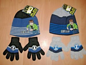 Ben 10 3 Piece Children/'s Fleece Hat Gloves And Scarf Set One Size