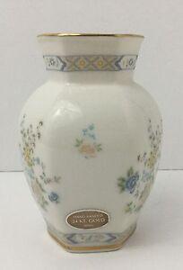 Vintage-Gorham-5-Vase-Cherrywood-Small-24-Kt-Gold-Banded-Made-In-Japan