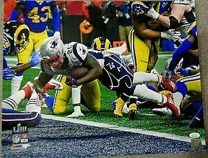 Sony-Michel-New-England-Patriots-Autographed-signed-16x20-photo-w-coa-JSA