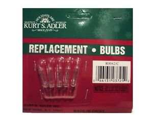 034-REPLACEMENT-12V-0-08-AMP-CLEAR-BULB-Pack-Of-5-For-Kurt-Adler-10L-Light-Set