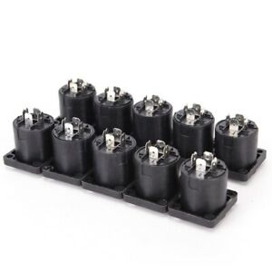 10Pcs-Speakon-4-Pin-Female-Compatible-Audio-Cord-Panel-Chassis-Socket-Connector