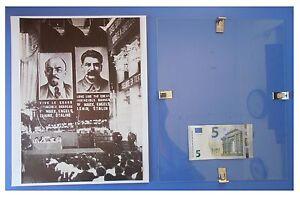 LENIN-STALIN-al-Comintern-Russia-URSS-Comunismo-quadro-cornice-vetro-cm-30x24