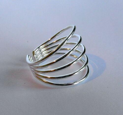 Plata Esterlina Nuevo!! 925 ajustable cinco anillos dedo Anillo!