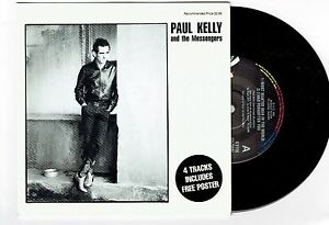 PAUL-KELLY-amp-THE-MESSENGERS-MOST-WANTED-MAN-IN-THE-WORLD-7-034-EP-RECORD-w-POSTER