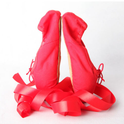Girl Adult Womens Satin Ballet Dance Pointe Shoes Leather Toe Comfortable HOT A3