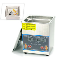 2l Ultrasonic Cleaner Industry Heated Heater W/ Timer Stainless Steel Us Ship