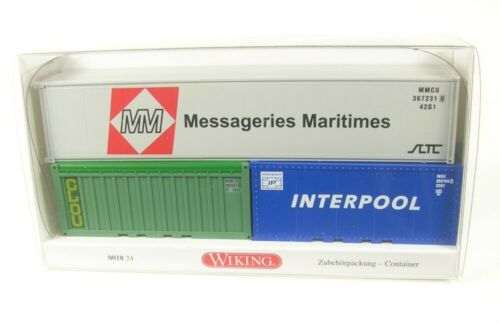 Container-Set Messageries Maritimes Interpool   1:87 Wiking Clou