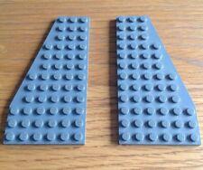 LEGO PART 30355 30566 PAIR DARK BLUISH GREY WEDGE PLATE 12 X 6 LEFT /& RIGHT