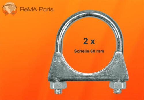 2 x Auspuffschelle Bügelschelle M10 x 60 mm VW AUDI FORD OPEL BMW SEAT SKODA