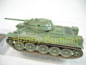 1-72-Russian-T-34-76-Army-1942-Tank-Soviet-WWII-Green-Finished-Plastic-Model