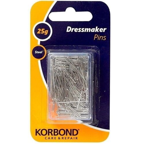 Korbond Steel Dressmaker Pins 25g Extra Fine Tailors Clothes Sewing Pin Craft