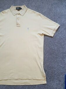7f3319309 Image is loading Ralph-Lauren-Polo-Shirt-Large-Yellow-100-Cotton-