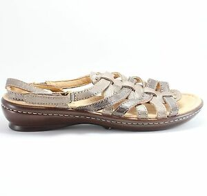 536a076c882f7e Image is loading Naturalizer-Jamboree-Leather-Slingback-Bronze-Womens- Sandals-EU-