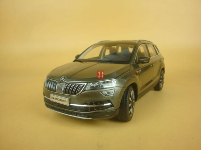 1/18 skoda karoq diecast model brown-green color | eBay