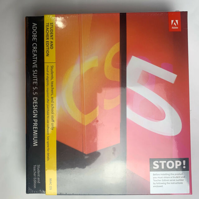 Cs5 5 Design Premium Mac Dvd Eng For Sale Online Ebay