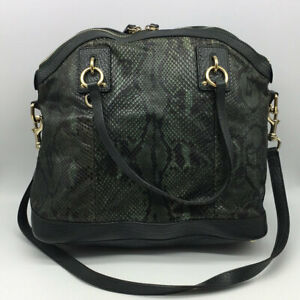 e294a2a1eb2 Image is loading Gucci-Green-Python-Skin-Shoulder-Bag