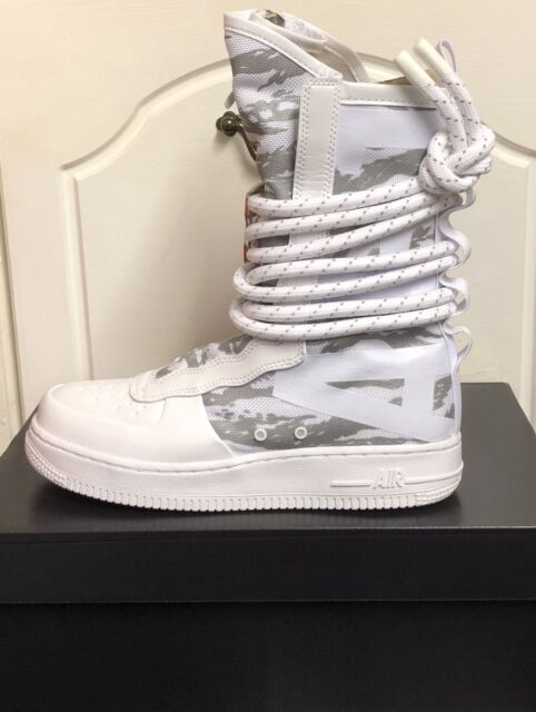 Nike Special Field Air Force 1 High IBEX Winter Camo White AA1130 100 Sz 8