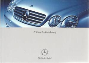 MERCEDES-CL-Klasse-500-600-55-AMG-Betriebsanleitung-2003-Handbuch-215-BA
