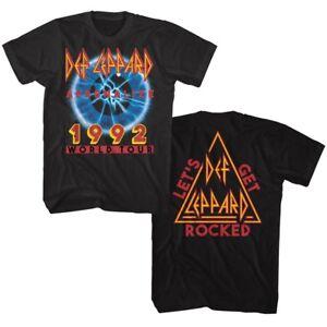 Def-Leppard-Adrenalize-World-Tour-1992-Men-039-s-T-Shirt-Get-Rocked-Band-Album-Merch