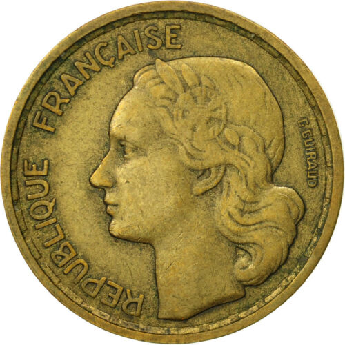 #452349 France, Guiraud, 10 Francs, 1954, Paris, EF4045, AluminumBronze