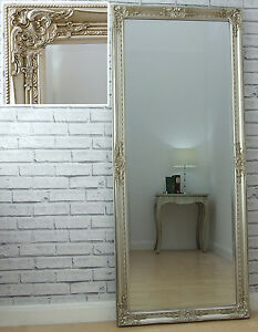 Phenomenal Details About Eton Champagne Silver Shabby Chic Full Length Leaner Floor Wall Mirror 62 X 27 Download Free Architecture Designs Scobabritishbridgeorg