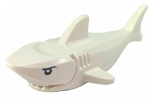 ☀️NEW Lego Animal White Shark Gills Printed Black Eyes White Pupils Pattern