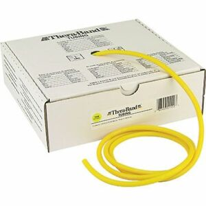 Thera-band-Yellow-Tube-By-The-Foot-Theraband-Resistance-Band-Yoga-AUTHENTIC-New