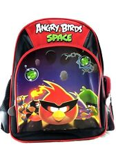 "Rovio Angry Birds Space Black 12"" Canvas School Backpack"