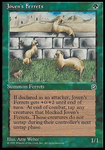 ▼▲▼ Furets de Joven TERRES #112 FRENCH Magic MTG Joven/'s Ferrets
