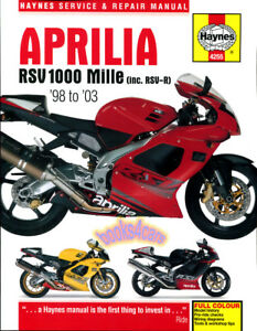 Aprilia Rsv 1000 Mille Shop Manual Service Repair Haynes Book Rsvr R Ebay