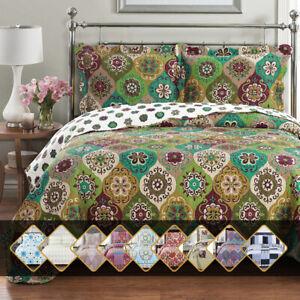 Luxury-Bedding-2-3-Pieces-Oversized-Bedspread-Coverlet-Set-Reversible-Bed-Quilt