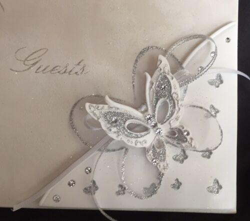 Glitter Butterfly Guest Book