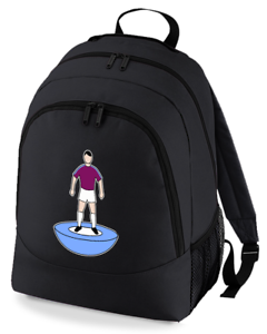 Football-TEAM-KIT-COLOURS-Burnley-Supporter-unisex-backpack-rucksack-bag
