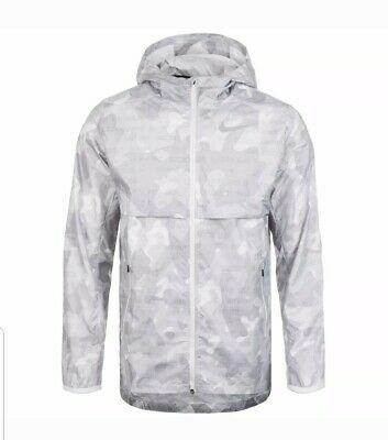 Nike Shield Ghost Flash Men's Running Jacket Sz 2XL Grey ...