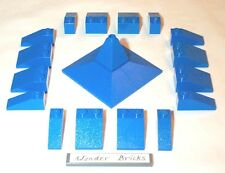 Lego Blue Corner Slopes 2507 Castle / Train Roof