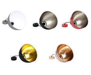 Diseno-Lampara-Colgante-Rendondo-Metal-Rojo-Cobre-Negro-Oro-Plata-Concreto