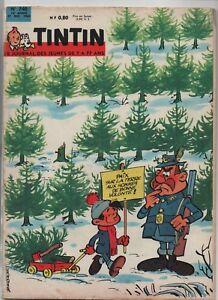 Giornale-Tintin-N-740-27-Dicembre-1962-Splendido-Condizioni-Completo