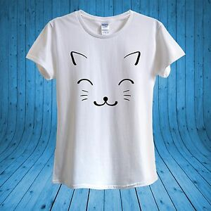 Cute Cat Kawaii Kitty Kitten Love Cats T-shirt 100% Cotton unisex ... 48d0ae784e