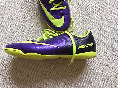 """"""" Nike - Mercurial """" Lila Gelb Multinocken Fußballschuhe Gr. 37,5 Np: 70 € Preisnachlass"""