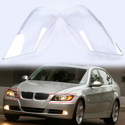 2x Front Headlight Headlamp Clear Lens Lenses Shell Cover For BMW E90//E91 04-08